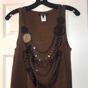 Nanette Lepore brown knit dress